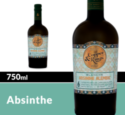 Copper & Kings Absinthe Alembic Blanche Finished 750 mL Bottle COPHI