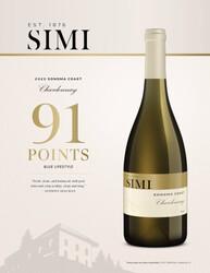 SIMI 2020 Sonoma Coast Chardonnay Reserve Hot Sheet Anthony Dias Blue Blue Lifestyle 91 Points