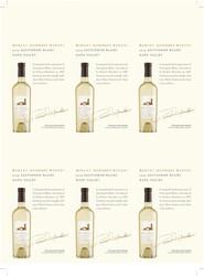 Robert Mondavi Winery 2019 Sauvignon Blanc Holiday FY22 6 Up Shelf Talker