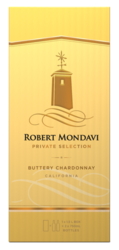 Robert Mondavi Private Selection Buttery Chardonnay White Wine 1.5L Box - Front Facing