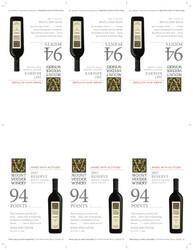 2017 Mount Veeder Winery Reserve Shelf Talker Wine Spectator 94 Points