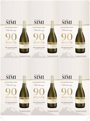 SIMI Sonoma Coast 2019 Chardonnay Holiday FY22 The Tasting Panel 90 Points 6 Up Shelf Talker