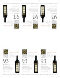 2017 Mount Veeder Winery Cabernet Sauvignon Shelf Talker Wine Spectator 93 Points