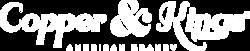 Copper & Kings Linear Logo - White