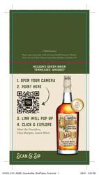 Nelson's Green Brier TN Whiskey Shelf Talker