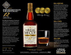 The Real McCoy Prohibition Tradition® LE100 Sell Sheet