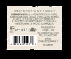 Casa Noble Blanco 750ml Back Label - MOCKUP