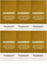 Woodbridge Chardonnay Holiday FY22 6 Up Shelf Talker