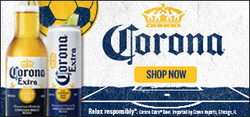 2021 Corona Extra Soccer Flow eComm - Large Banner - Shop Now CTA - 320 x 150 - Online use only – not for print