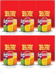 SVEDKA Vodka Soda Can Holiday FY22 6 Up Shelf Talker