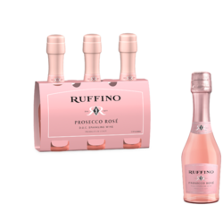 Ruffino Rose Prosecco FY22 187ml Bottle 3pk COPHI - No Text