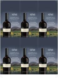 SIMI Landslide Vineyard 2018 Cabernet Sauvignon Holiday FY22 6 Up Shelf Talker