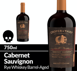 Cooper and Thief Rye Whiskey Barrel Aged Cabernet Sauvignon 750ml Bottle Halloween Icon COPHI - Temporary Image