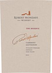 2017 Robert Mondavi Winery Cabernet Sauvignon Reserve 750ml Front Label