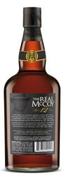 The Real McCoy® Distiller's Proof 12 Year Single Blended Aged Rum 750ml 92 Proof Bottle Shot - Back