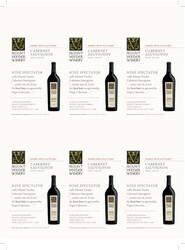 Mount Veeder Winery Cabernet Sauvignon Holiday FY22 Wine Spectator 6 Up Shelf Talker