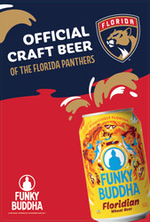 Funky Buddha - Panthers - FL Can - Large Poster