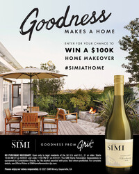 SIMI Sonoma County Chardonnay Summer Sweeps Summer FY22 Instagram Post Digital Banner - No CTA - 4x5 - Online Use Only, Not for print