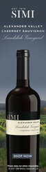 2018 SIMI Alexander Valley Landslide Cabernet Sauvignon Summer FY22 Skyscraper Digital Banner - Shop Now CTA - 160x600 - Online Use Only, Not for print