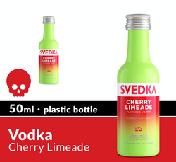 SVEDKA Cherry Limeade 50ml Plastic Bottle Halloween Icon COPHI - Temporary Image
