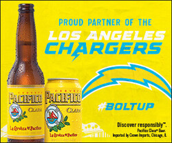 2021 Pacifico LA Chargers- eComm - Rectangle - No CTA - 300 x 250 - Online use only – not for print
