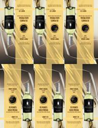 2019 Robert Mondavi Private Selection Pinot Grigio Shelf Talker 2021 San Diego Wine & Spirits Challenge 91 Points Gold Medal