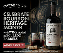 2018 Cooper & Thief California Red Blend Summer FY22 Rectangle Digital Banner - Order & Pick Up CTA - 300x250 - Online Use Only, Not for print