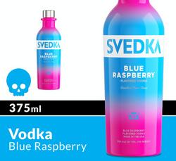 SVEDKA Blue Raspberry 375ml Bottle Halloween Icon COPHI - Temporary Image