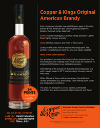 Copper and Kings American Brandy Sell Sheet
