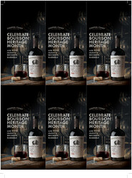 Cooper & Thief 2018 Red Blend Holiday FY22 6 Up Shelf Talker