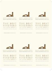 Robert Mondavi Winery Holiday FY22 Worlds Best Vineyards Best Vineyard in North America 6 Up Shelf Talker
