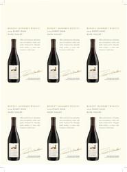 Robert Mondavi Winery 2019 Pinot Noir Holiday FY22 6 Up Shelf Talker
