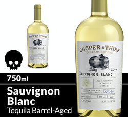 Cooper and Thief Sauvignon Blanc 750ml Bottle Halloween Icon COPHI - Temporary Image