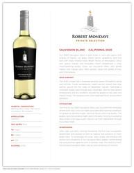 2020 Robert Mondavi Private Selection Sauvignon Blanc Tasting Note