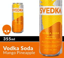SVEDKA Mango Pineapple Vodka Soda 355ml Can Halloween Icon COPHI - Temporary Image