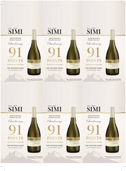 SIMI Russian River Valley 2019 Chardonnay Holiday FY22 The Tasting Panel 91 Points 6 Up Shelf Talker