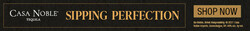 Casa Noble Sipping Perfection Leaderboard Digital Banner - Shop Now CTA – 728x90 - For Online Use Only - Not for print or paid media