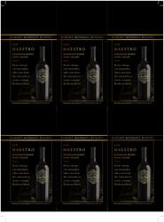 Robert Mondavi Winery 2018 Maestro Bordeaux Blend Holiday FY22 6 Up Shelf Talker