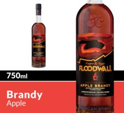 Copper & Kings Floodwall American Craft Apple Brandy 750 mL Bottle COPHI