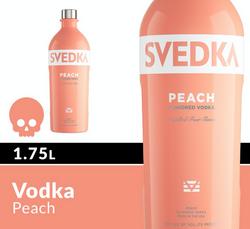 SVEDKA Peach 1.75L Bottle Halloween Icon COPHI - Temporary Image