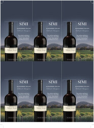 SIMI 2018 Cabernet Sauvignon Holiday FY22 6 Up Shelf Talker
