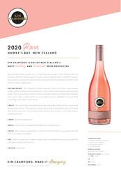 Kim Crawford 2020 Rosé NSRP Tasting Note - International