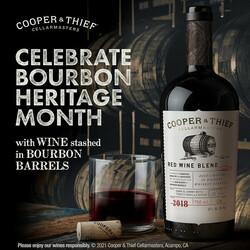 2018 Cooper & Thief California Red Blend Summer FY22 Facebook Digital Banner - No CTA - 1080x1080 - Online Use Only, Not for print