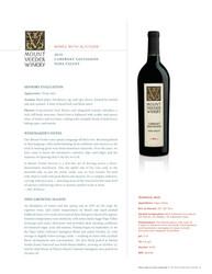 2019 Mount Veeder Cabernet Sauvignon SRP Tasting Note