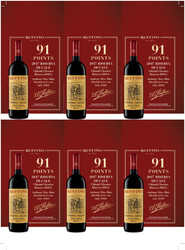 Ruffino 2017 Riserva Ducale Chianti Classico Holiday FY22 Blue Lifestyle 91 Points 6 Up Shelf Talker