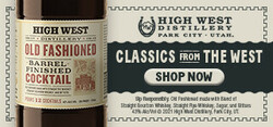 High West BFC Large Digital Banner - Shop Now CTA – 320x150 - For Online Use Only - Not for print or paid media