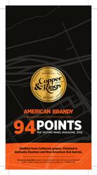 Copper & Kings American Brandy Shelf Talker