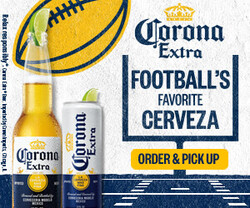 2021 Corona Extra Football Flow eComm - Rectangle - Order Pick Up CTA - 320 x 250 - Online use only – not for print