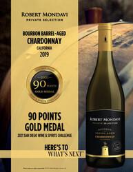 2019 Robert Mondavi Private Selection BBA Chardonnay Hot Sheet 2021 San Diego Wine & Spirits Challenge 90 Points Gold Medal