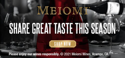 Meiomi Holiday FY22 Large Digital Banner – Shop Now CTA – 320x150 - For Online Use Only - Not for print or paid media